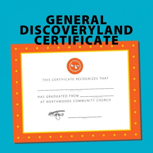 General Discoveryland Certificate